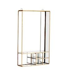 Speil med hylle 20,5x6x34,5 cm - Messing