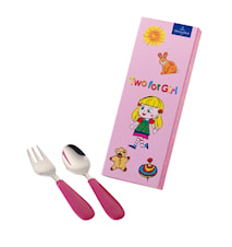 Kid's Dining Two Bestickset Rosa