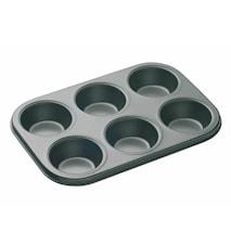 Muffinsform 6 Non-Stick 27x18 cm