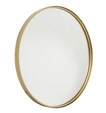Rund spegel i järn - Guld