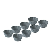 Muffinsform 8 st. Grå silikon