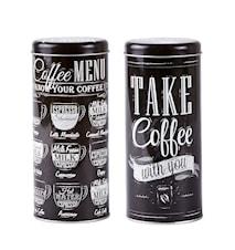 Kaffeburk Metall Vit 18 cm 70 cl