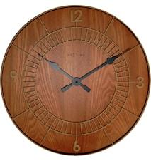 Wood round klocka