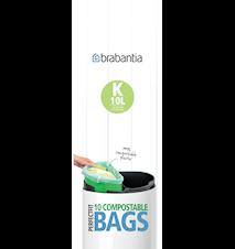 Miljøvennlig avfallspose 10L (10 pose) Grønn/hvit