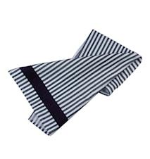 Handduk randig svart/vit