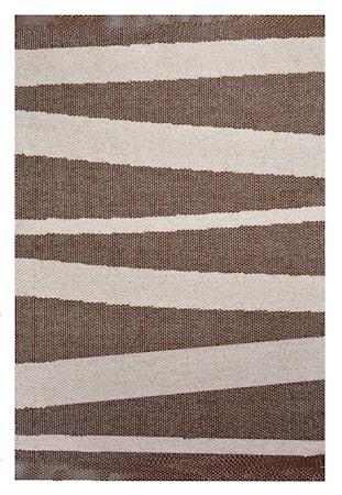 Bild av Sofie Sjöström design Åre Brun/beige matta 1 m