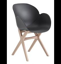CASØ deluxe stol – Svart sits, ekram