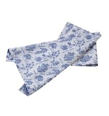 Handduk blå kryddörter jacquar