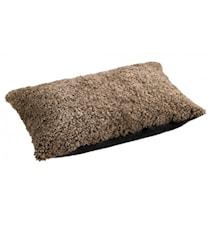 Ace Medium Kudde fårskinn/ulltyg 40x60 - Sahara/Black