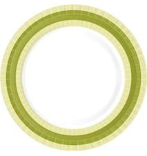 Papirtallerken Flat 22 cm BBQ Green Line 10-pakk