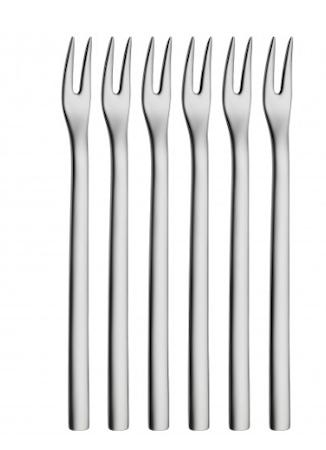 WMF Nuova alkupalahaarukka kiillotettu teräs 12,5cm 6-pack