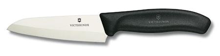 Skalkniv, keramisk, 12 cm i presentask