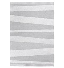 Åre Grå/hvit teppe 1 m