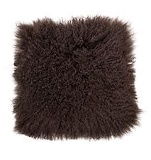 Stolsdyna Brun mongoliskt lammskinn 40x40 cm