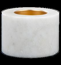 Varmelysholder Hvid marmor 5,5 cm Ø 7 cm