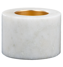 Värmeljushållare Vit marmor 5,5 cm Ø 7 cm 2-pack