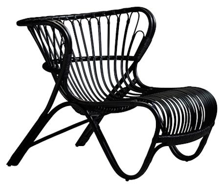 Sika Design Fox loungefåtölj - Black