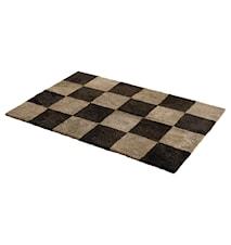 Chess Rutig fårskinnsmatta 120x180 - Mocha/Mushroom
