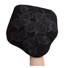 Non-Slip Grytlapp/Underlägg med ficka Silikon Svart 22 cm