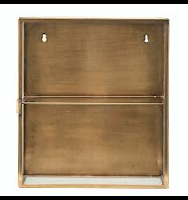 Kabinett 40x35x15 cm - Glas/mässing