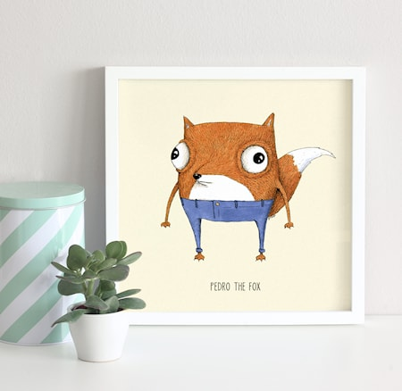 Bild av A Grape Design Pedro the fox poster
