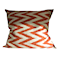 Ikat Waves siden kuddfodral 50x50 - Orange