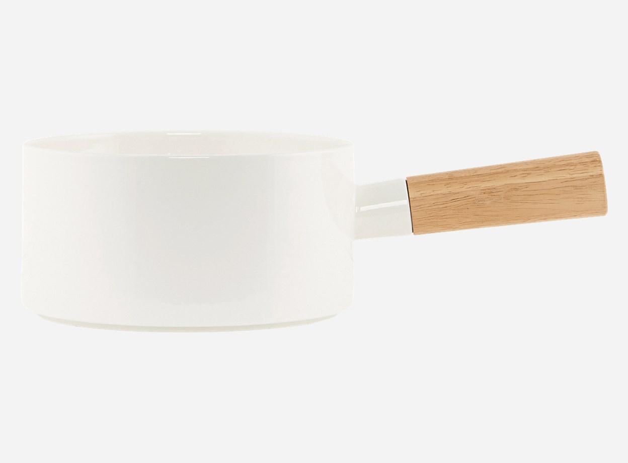 Skål Simply White med handtag Ø 20,5 H 11,9 cm
