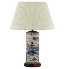 Lampfot, 32 cm, penmodell, blåvit,willow mönster