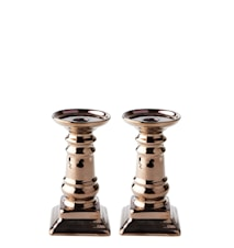 Ljusstake Keramik Brons 17,5 cm