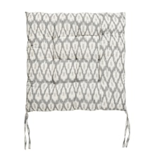 Hynde IKAT 45x45 cm - Off white/Sort