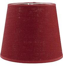 Mia L Lampskärm Lin Röd 20 cm