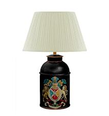 Lampa 26 cm, plåt med vapen i handmålad plåt