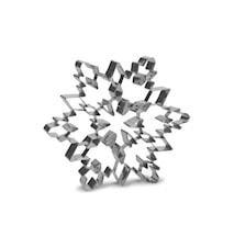 Kakmått snöflinga stål - 19 cm