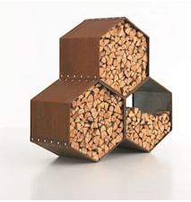 3 stk Woodbee brændeopbevaring