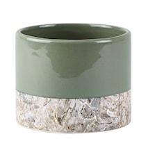 Skjuler - Dolomite - Marmor struktur - Støvet grøn - D 13,0cm - H 10,3cm - Stk.