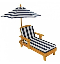 Outdoor chaise med parasoll