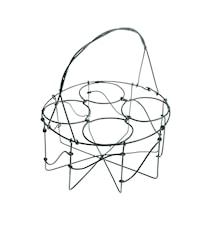 Glashållare med handtag Ø 16 cm - Natur
