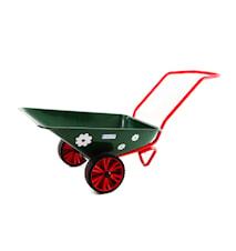 Skottkärra Hörby Bruk Ekeby Täppan, Punkteringsfria hjul - Grön/Röd
