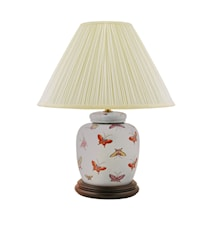 Lampfot, 17,5 cm, fjärilar på ljusblå botten