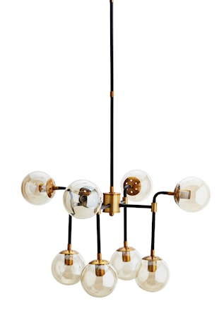 Madam Stoltz Brass 8 bulbs taklampa