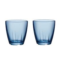 Bruk Blå Dricksglas Liten (2-pack)