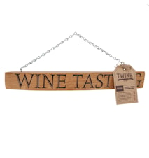 Barrel stave wine tasting sign