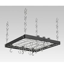 Hahn Premium takhängare 50x50x5 cm Svart stål