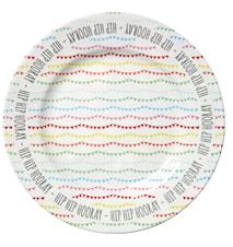 Melamine Cake Platter in Happy Birthday Print