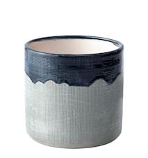 Kruka Keramik Blå/Grå 13 cm
