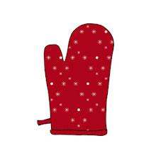 Grillhandske 18x32 cm röd bomull