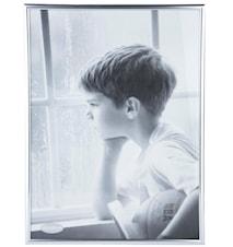 Tavelram Glas/Silver 50x40 cm