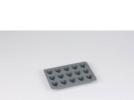 Chok.form Hjerte grå silikone