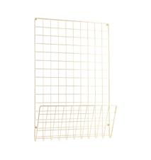 Mesh Anslagstavla Guld 50x72,5 cm