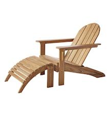 Adirondack trädgårdsstol med fotstöd – Teak